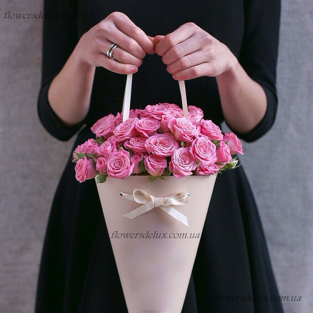 Необычный подарок с цветами 131