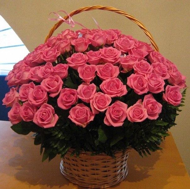 Доставка корзины величественных роз — отличный способ удивить близких