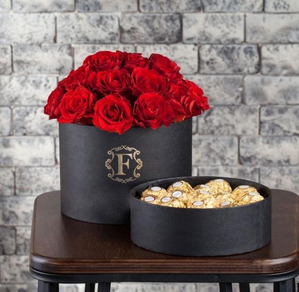 19 роз Эль Торо шляпная коробка с двойным дном конфеты