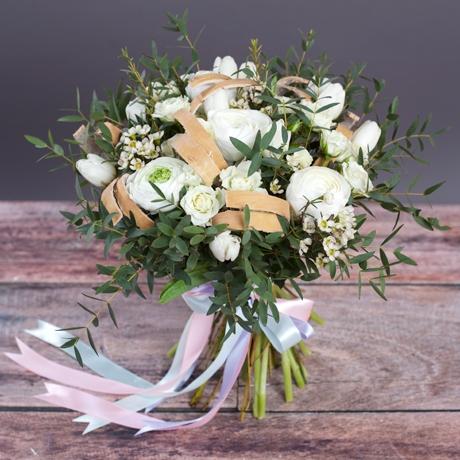 Роза кустовая белая 4шт