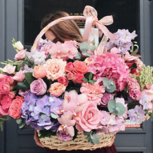 цветочная корзина киев