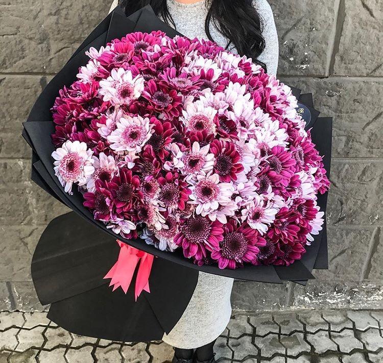Букет хризантем - Доставка - Flowers De Lux