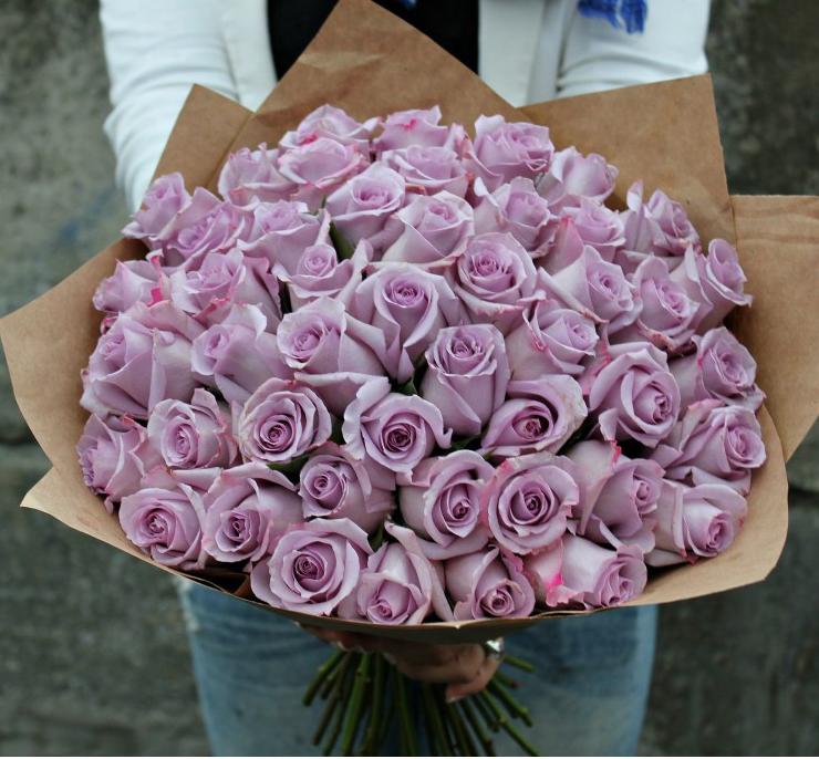 Роза, букет роз сиреневых